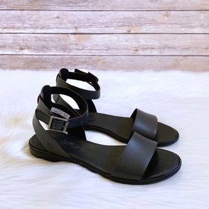 Timberland Cherrybrook Black Leather Sandals